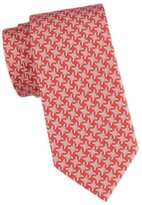 Salvatore Ferragamo Stellated-Print Silk Tie