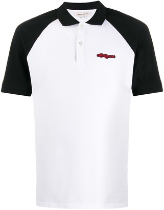 Alexander McQueen Embroidered Logo Polo Shirt