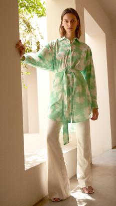 MSGM Tie Dye Shirt Dress