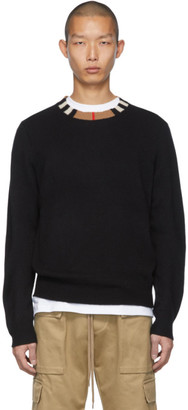 Burberry Black Cashmere Noland Sweater