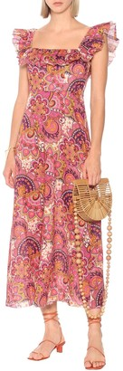 Carnaby floral linen dress
