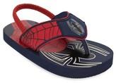 Marvel Toddler Boys' Spider-man Flip Flop Sandals - Red