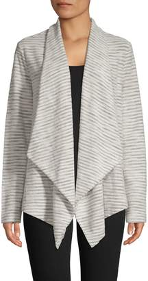 Lord & Taylor Striped Cotton-Blend Cardigan