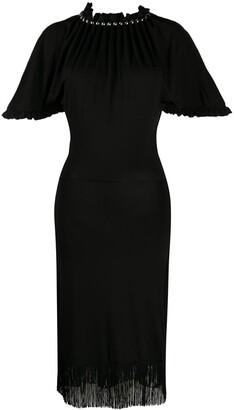 Paco Rabanne Ruffled Stud Collar Dress