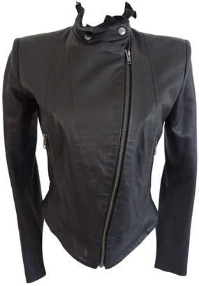 Preen Black Leather Leather jackets