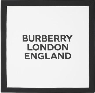 Burberry Logo Print Double Interlock Blanket