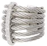 Alor 18K White Gold Diamond Detail Multi Strand Ring - 0.11 ctw