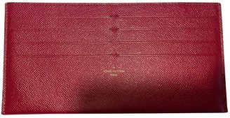 Louis Vuitton Red Leather Purses, wallets & cases