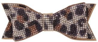 Bari Lynn Leopard Print Bow Hairclip