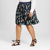 Merona Women's Plus Size Pleated Skirt Multi Stripe