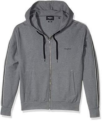 The Kooples Men's Men's Zip-up Hooded Sweatshirt with Contrasting Armband