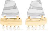 Loewe Earth Gold And Silver-tone Faux Pearl Earrings