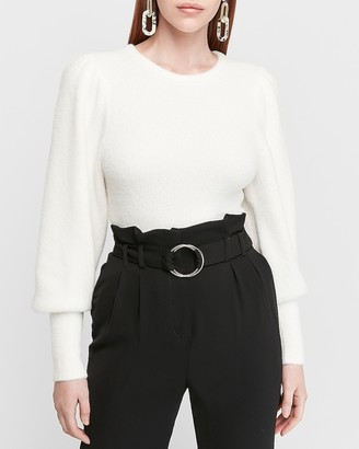 Express Supersoft Ribbed Volume Sleeve Sweater