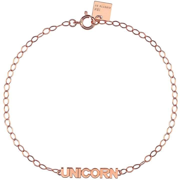 ginette_ny Fairy Unicorn Bracelet - Rose Gold