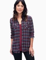 Splendid Margueriete Flannel Plaid Shirt