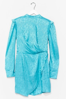 Nasty Gal Womens Power Dressing Jacquard Mini Dress - White - 4, White