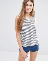 Jack Wills Striped Tank With Woven Back