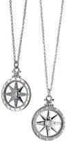 Monica Rich Kosann Sterling Silver Compass Necklace with Moonstone & Blue Sapphires
