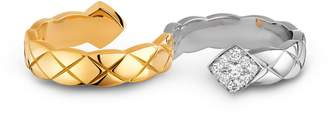 Chanel Yellow and White Gold Diamond Co Co Crush Ring