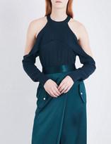 Dion Lee Cold-shoulder stretch-knit top