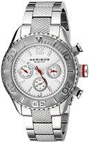 Akribos XXIV Women's AK695SS Ultimate Swiss Quartz Multifunction Silver-tone Stainless Steel Bracelet Watch