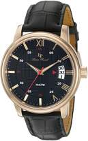Lucien Piccard Men's 'Amici' Quartz Stainless Steel and Leather Casual Watch (Model: LP-40019-RG-01)