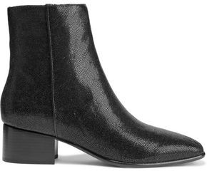 Rag & Bone Aslen Glossed Stingray-effect Leather Ankle Boots