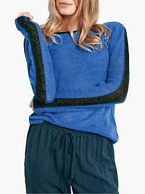 Hush Astoria Stripe Jumper, French Blue/Blue