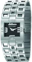 Pierre Cardin Calligraphie Women's Quartz Watch with Black Dial Analogue Display and Silver Stainless Steel Bracelet PC105732F02