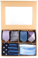The Tie Bar Purple and Blue Large Style Box