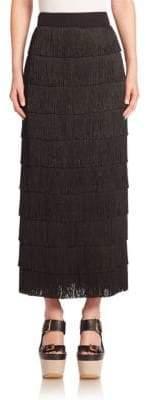 Stella McCartney Silk Fringe Maxi Skirt