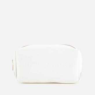 Ted Baker Women's Doortha Saffiano Makeup Bag - Ivory