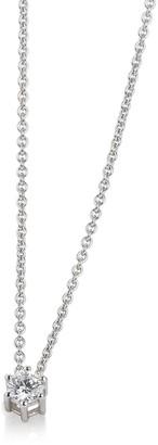 Breuning 14K Gold Diamond Solitaire Necklace - 0.20 ctw