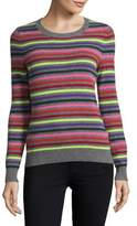Lord & Taylor Candy-Stripe Cashmere Sweater