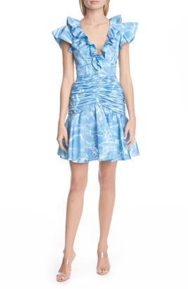 Flor Et. Al Dante Ruffle Ruched Cocktail Dress