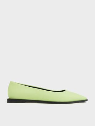 Charles & Keith Pointed Toe Ballerina Flats