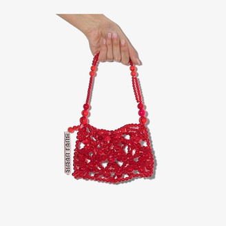 Susan Fang red Bubble beaded mini bag