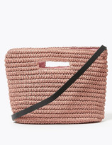 Marks and Spencer Straw Grab Cross Body Bag