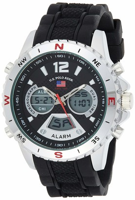 U.S. Polo Assn. Sport Men's Quartz Watch with Rubber Strap