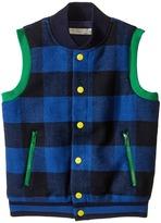 Stella McCartney Bram Checkered Wool Vest Boy's Vest