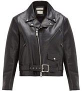 Bottega Veneta Leather Biker Jacket - Womens - Black