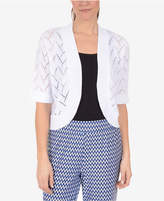 NY Collection Open-Front Cardigan
