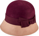 San Diego Hat Company Wool Color Block Cloche with Grosgrain Bow WFH3546 (Women's)