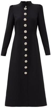 Andrew Gn Crystal-embellished Crepe Midi Dress - Black Silver