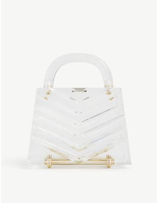 L'Afshar Eva acrylic clutch bag