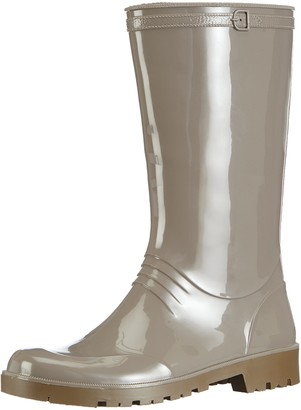 Chuva Womens IRIS DAMESLAARS PVC Unlined Rubber Boots Half Shaft Boots & Bootees Grey Size: 6.5