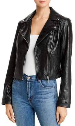 GUESS Rosetta Viper Faux Leather Moto Jacket