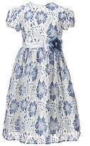 Jayne Copeland Big Girls 7-12 Floral-Lace-Overlay A-Line Dress