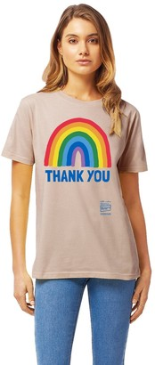 Little Mistress X Kindred Rainbow Thank You Nhs Unisex Misty Pink Rainbow Classic Jersey T-Shirt