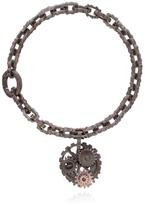 Bottega Veneta Oxidised Silver Cog Bracelet